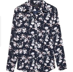 Banana republic Navy Floral shirt